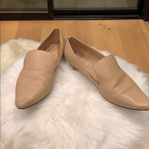 Calvin Klein Elian Pointed Toe Loafer NUDE size 8